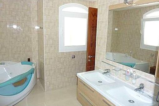 The very modern bathroom