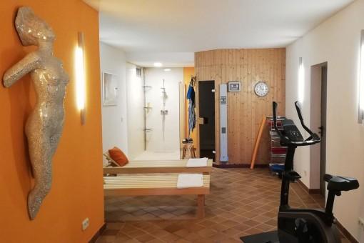 Sauna and gym