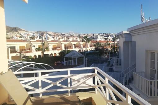 Sun loungers on the balcony