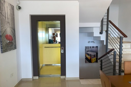 Staircase and lift