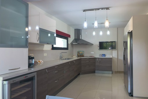 Modern kitchen of the villa