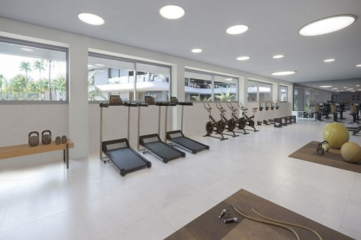 Community fitness gym