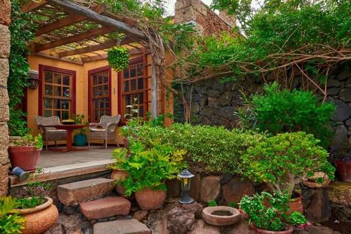Inviting terrace