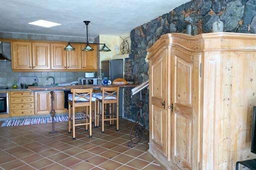 Open kitchen of the villa