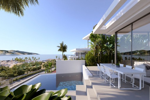 Modern villa with pool and view in the Abama Golf Resort Tenerife