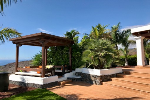 Covered chill out area