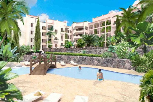 New-built apartment with 3 bedrooms and community pool in Palm Mar, Tenerife South