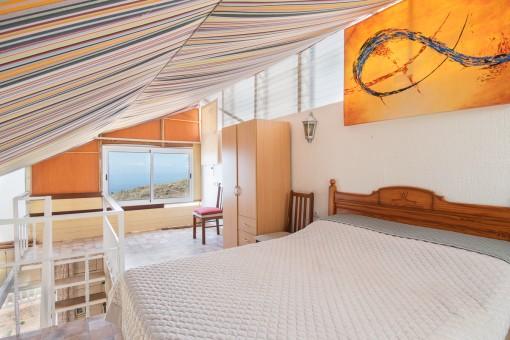 View of the guest studio bedroom