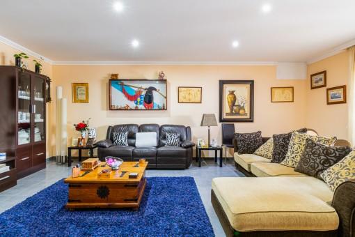 Rustic living area
