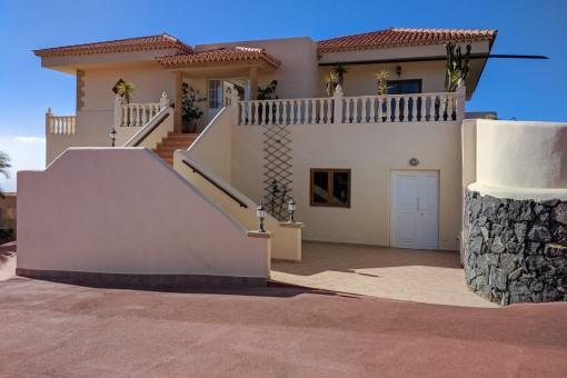 The villa is in a quiet neighborhood