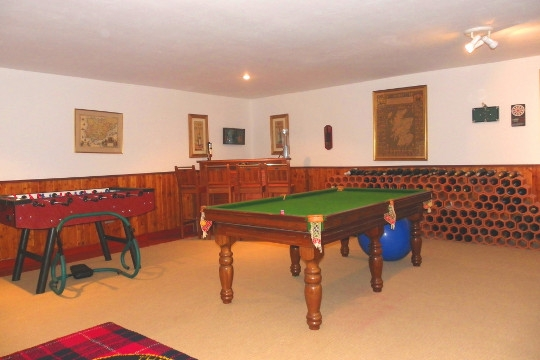 Hobby room with pool table and soccer table