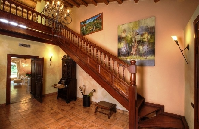 Beautiful entrance hall of the villa