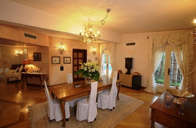 The dining room of the main house