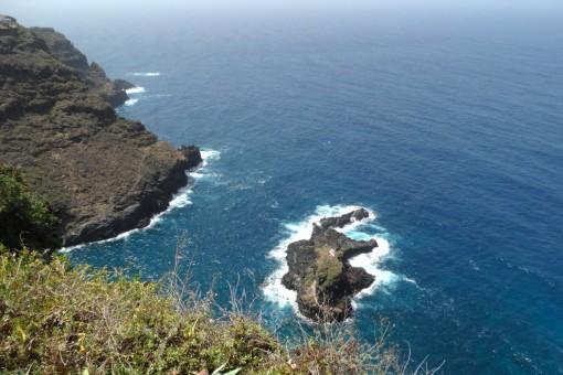 The coast view with Roque de la Playa