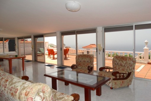 Living room with adjoining terrace