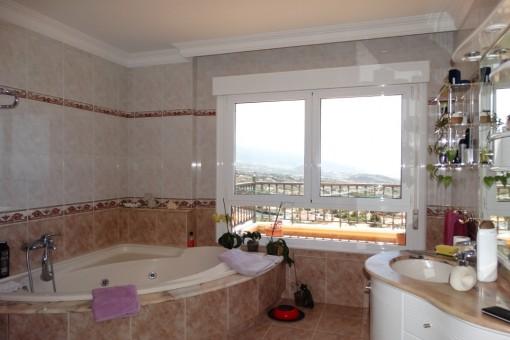 Bright spacious bathroom in a beautiful design