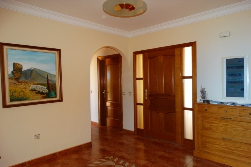 The entrance hall of the house