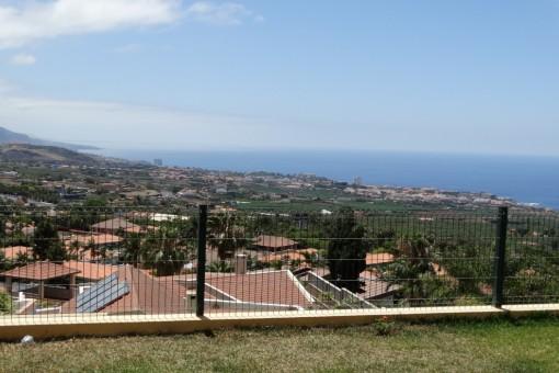 View over the Orotava Valley, Puerto de la Cruz and the Atlantic