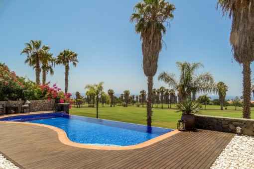 Harmonious villa of the highest quality with sea view on the golf course - Costa Adeje
