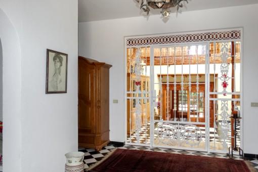 Spacious hall way of the villa