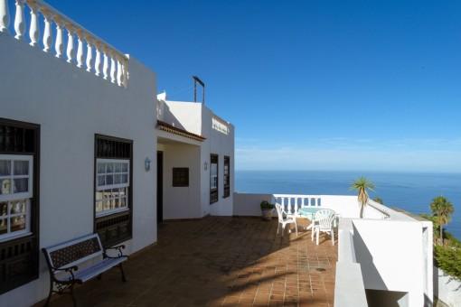 Sunny balcony of the villa