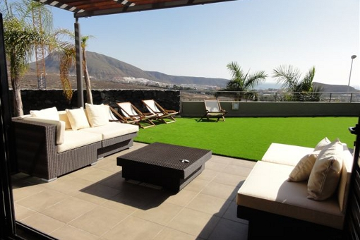 Spacious terrace with stunning views