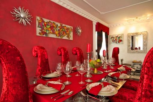 Exquisite dining area