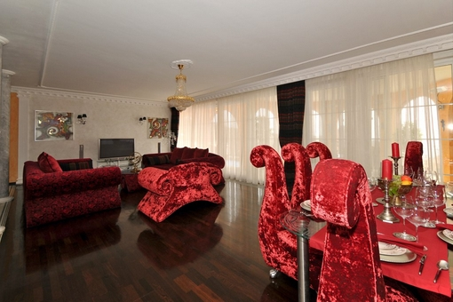 Spacious lounge with luxury furniture