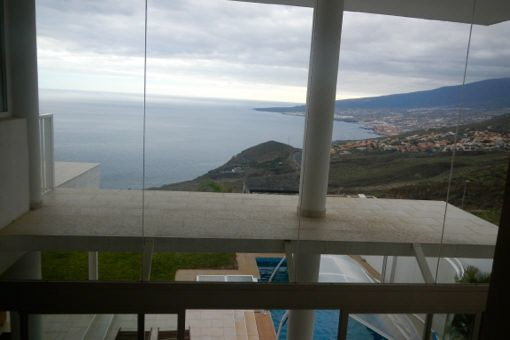 Crystal clear views of the ocean and coastline from the second floor of the house