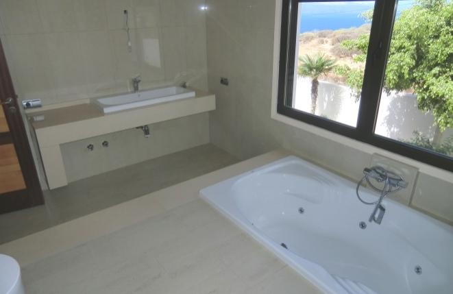 Luxury bathroom with bath tub