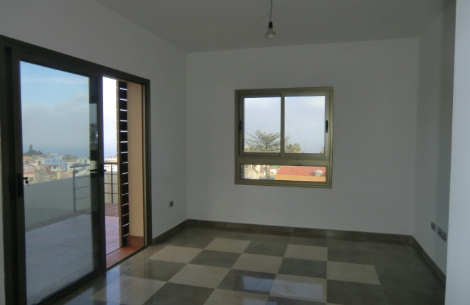 Large living room with dining area as well as Teide and sea views