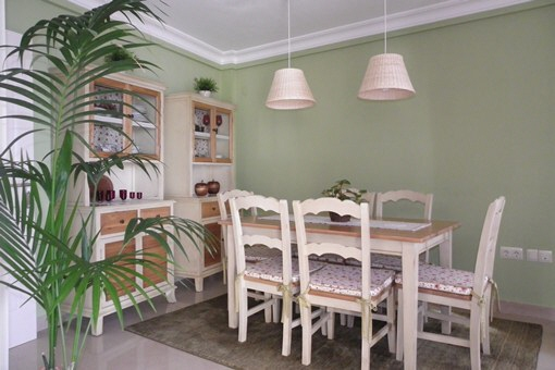 The cosy dining area