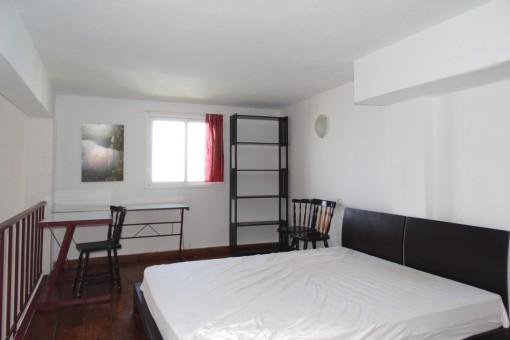 Modern sleeping area upstairs