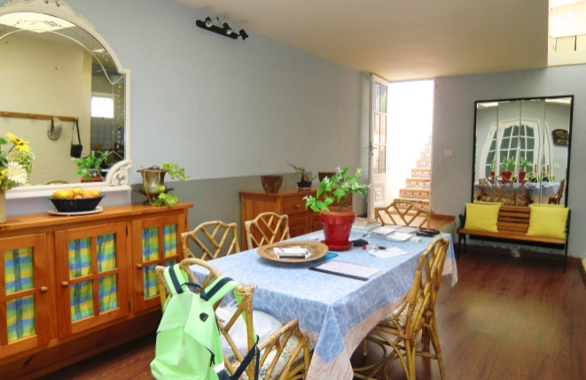 Dining room with access to the terrace