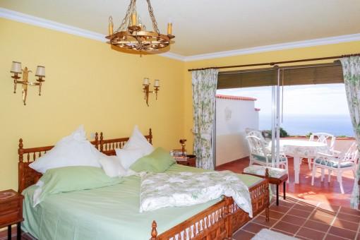 Bedroom with fantastic sea views