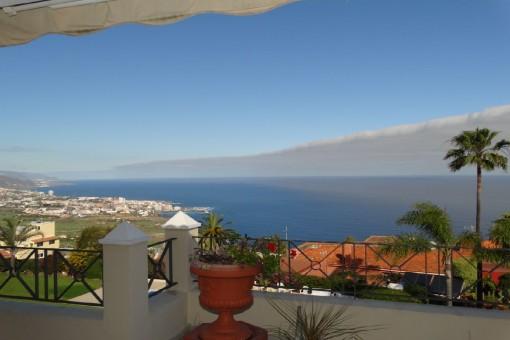 Panoramic sea view terrace