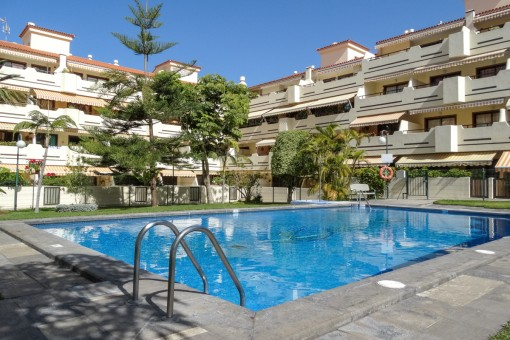 Nice bright apartment with very large terrace, pool and tennis court in Puerto de la Cruz