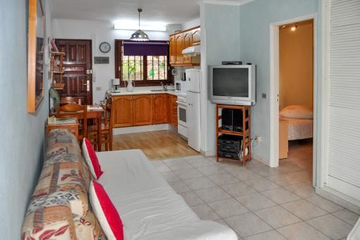 Quiet 1-bedroom apartment with terrace and communal pool in Puerto de la Cruz