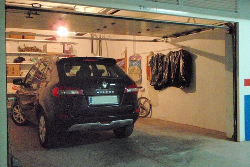 Underground parking with a separate garage for two cars