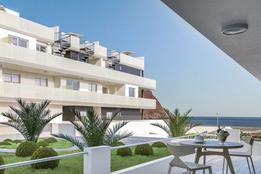 Private terrace with lovely sea views