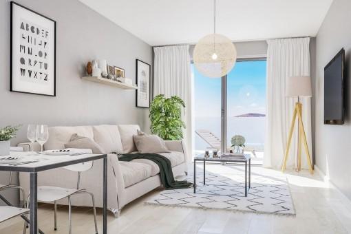 Elegant living area with terrace