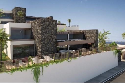 Facade view of the villa