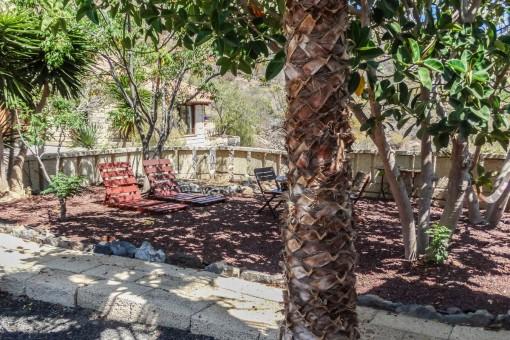 Shady terrace in the garden