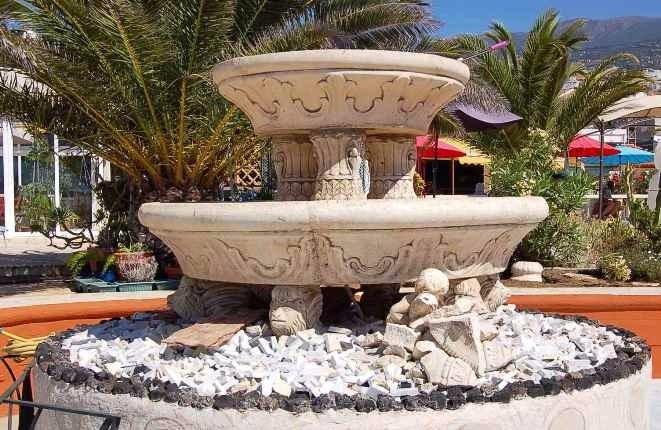 Fountain on the terrace