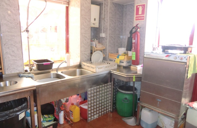 Kitchen with dishwasher and sink