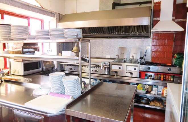 Spacious kitchen according to the latest standard