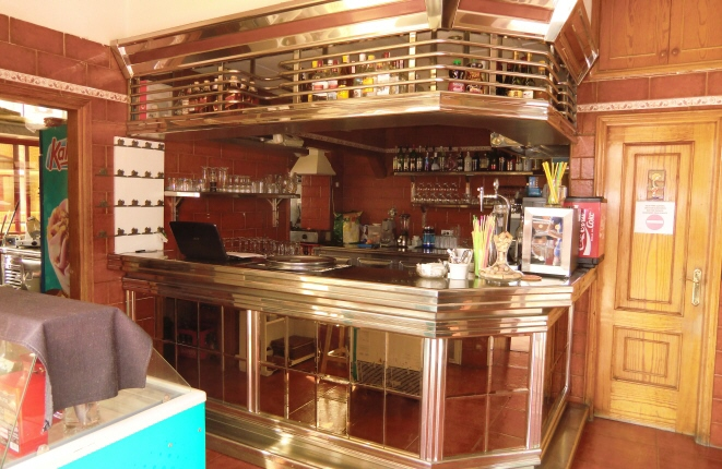 View of the fully equipped bar